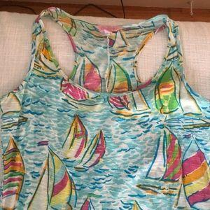 Lily Pulitzer sailboat maxi dress